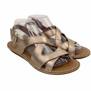 Clarks Artisan Sandals Gold Bronze Leather Comfort